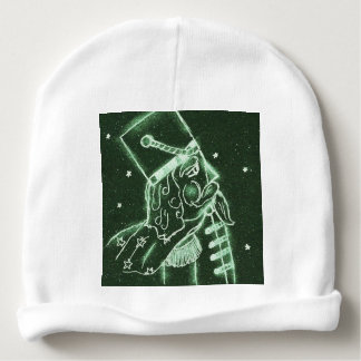 Toy Soldier in Deep Forest Green Baby Beanie