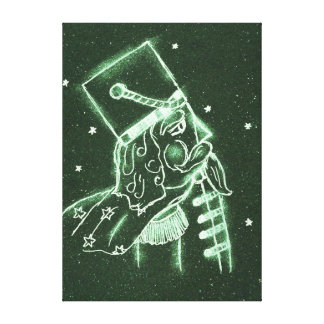 Toy Soldier in Deep Forest Green Canvas Print
