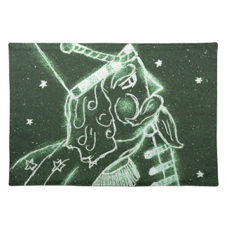 Toy Soldier in Deep Forest Green Cloth Placemat