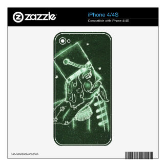 Toy Soldier in Deep Forest Green Decals For iPhone 4