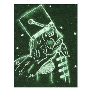 Toy Soldier in Deep Forest Green Postcard