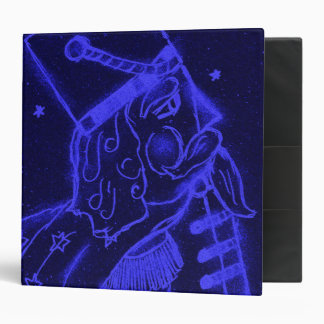 Toy Soldier in Royal Blue 3 Ring Binder