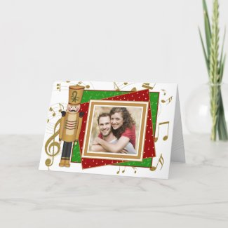 Toy Soldier Photo Christmas Greeting Card card