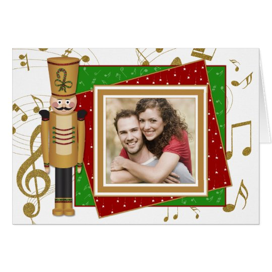 Toy Soldier Photo Christmas Holiday Greeting Card