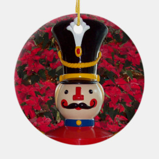 Toy Soldier Poinsettia Christmas Tree Ornament