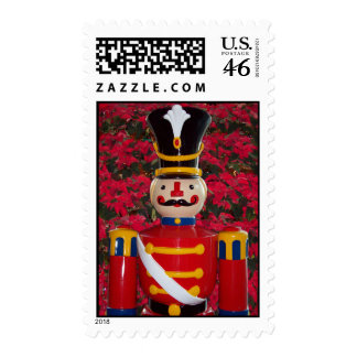 Toy Soldier with Poinsettia stamp