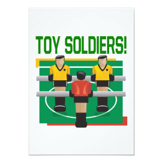 Toy Soldiers 5x7 Paper Invitation Card