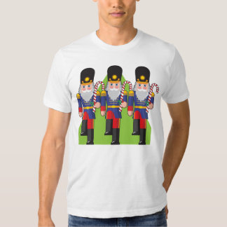Toy Soldiers Holding Candy Canes Mens T-Shirt