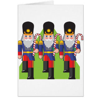 Toy Soldiers Holding Candy Canes Note Cards