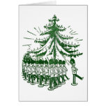 Toy Soldiers March Round a Tree Card