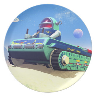 Toy Space Tank 1 Dinner Plate