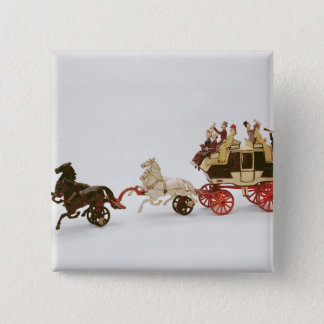 Toy stagecoach button