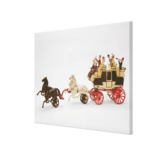 Toy stagecoach stretched canvas print