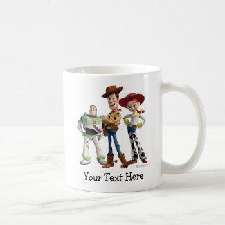 Toy Story 3 - Buzz Woody Jessie 2 Classic White Coffee Mug