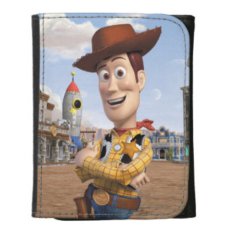 Toy Story 3 - Woody 3 Leather Trifold Wallets