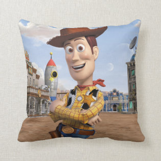 Toy Story 3 - Woody 3 Throw Pillows