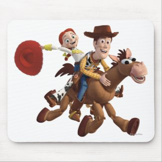 Toy Story 3 - Woody Jessie mousepad