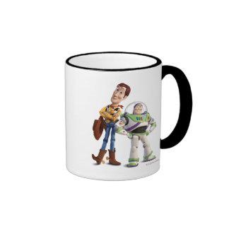 Toy Story 3 - Zumbido y Woody Taza De Dos Colores