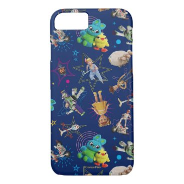 Toy Story 4 | Blue Toys Toss Pattern iPhone 8/7 Case