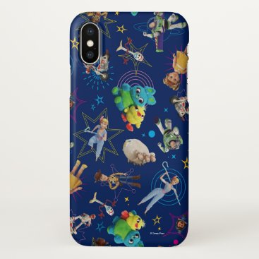 Toy Story 4 | Blue Toys Toss Pattern iPhone X Case