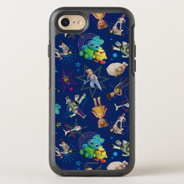 Toy Story 4   Blue Toys Toss Pattern OtterBox Symmetry iPhone 8/7 Case