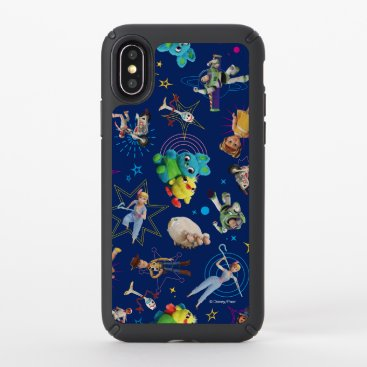 Toy Story 4 | Blue Toys Toss Pattern Speck iPhone X Case