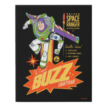 Toy Story 4 | Buzz Lightyear Action Figure Ad Faux Canvas Print