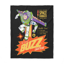 Toy Story 4 | Buzz Lightyear Action Figure Ad Fleece Blanket