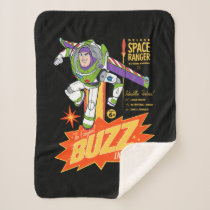 Toy Story 4 | Buzz Lightyear Action Figure Ad Sherpa Blanket