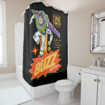 Toy Story 4 | Buzz Lightyear Action Figure Ad Shower Curtain