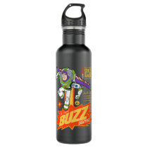 Toy Story 4 | Buzz Lightyear Action Figure Ad Stainless Steel Water Bottle