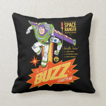 Toy Story 4 | Buzz Lightyear Action Figure Ad Throw Pillow
