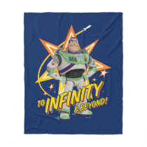 "Toy Story 4 | Buzz ""To Infinity & Beyond"" Stars Fleece Blanket"