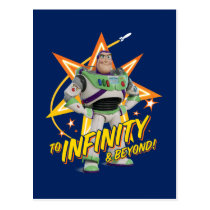"Toy Story 4 | Buzz ""To Infinity & Beyond"" Stars Postcard"