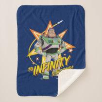 "Toy Story 4 | Buzz ""To Infinity & Beyond"" Stars Sherpa Blanket"