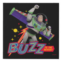Toy Story 4 | Buzz To The Rescue! Faux Canvas Print