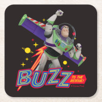 Toy Story 4 | Buzz To The Rescue! Square Paper Coaster