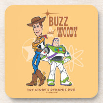 "Toy Story 4 | Buzz & Woody ""Dynamic Duo"" Beverage Coaster"