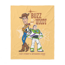 "Toy Story 4 | Buzz & Woody ""Dynamic Duo"" Fleece Blanket"