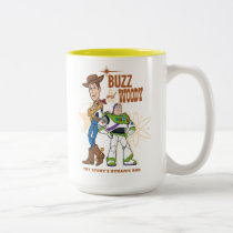 "Toy Story 4 | Buzz & Woody ""Dynamic Duo"" Two-Tone Coffee Mug"