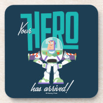 "Toy Story 4 | Buzz ""Your Hero Has Arrived"" Beverage Coaster"