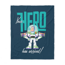 "Toy Story 4 | Buzz ""Your Hero Has Arrived"" Fleece Blanket"