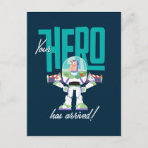 """Toy Story 4   Buzz """"Your Hero Has Arrived"""" Postcard"""
