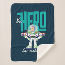 "Toy Story 4 | Buzz ""Your Hero Has Arrived"" Sherpa Blanket"
