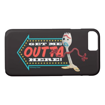 """Toy Story 4   Forky """"Get Me Outta Here"""" iPhone 8/7 Case"""