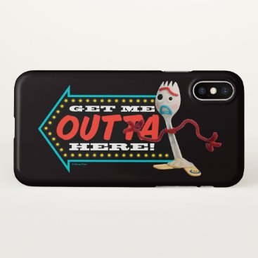 "Toy Story 4 | Forky ""Get Me Outta Here"" iPhone X Case"