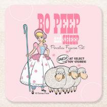 Toy Story 4 | Retro Bo Peep Figure Set Ad Square Paper Coaster