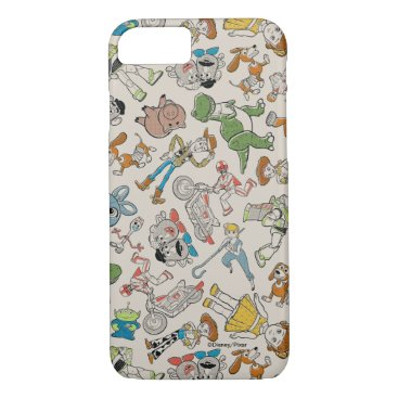 Toy Story 4   Retro Character Toss Pattern iPhone 8/7 Case