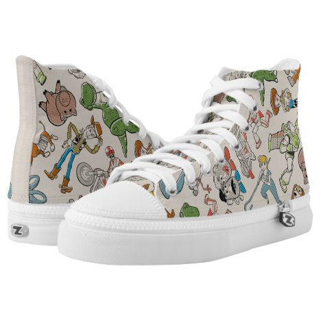 Toy Story 4 | Retro Character Toss Pattern High-Top Sneakers
