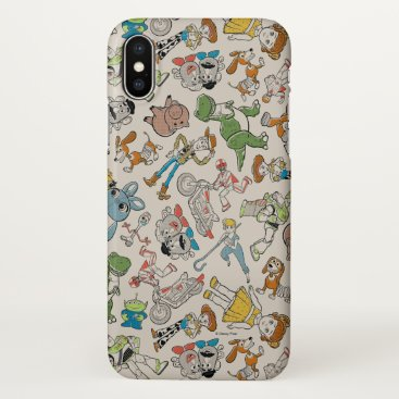 Toy Story 4 | Retro Character Toss Pattern iPhone X Case